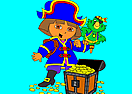 Dora the Pirate - Online Coloring Game