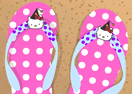 Hello Kitty Fan Flip Flop