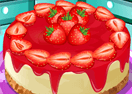 Penguin's Strawberry Cheesecake