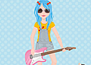 Blue Hair Girl Dress Up