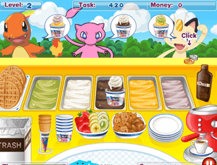 Jogo Online Pokémon Ice Cream Shop
