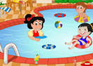 Children's Swimming Pool Decor