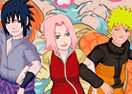 Sakura Dress Up Game With Naruto and Sasuke