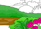 Nature Scene Coloring Game