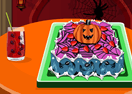 Cooking Halloween Cake