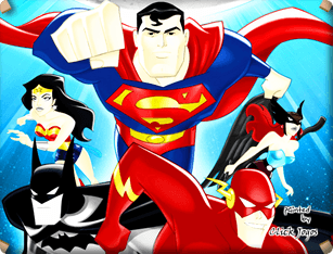 Justice League Coloring